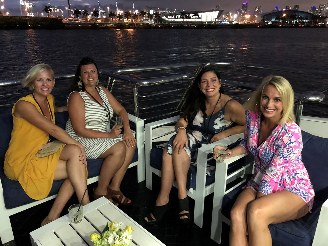 What yacht cruise doesn't sail without beautiful babes?
